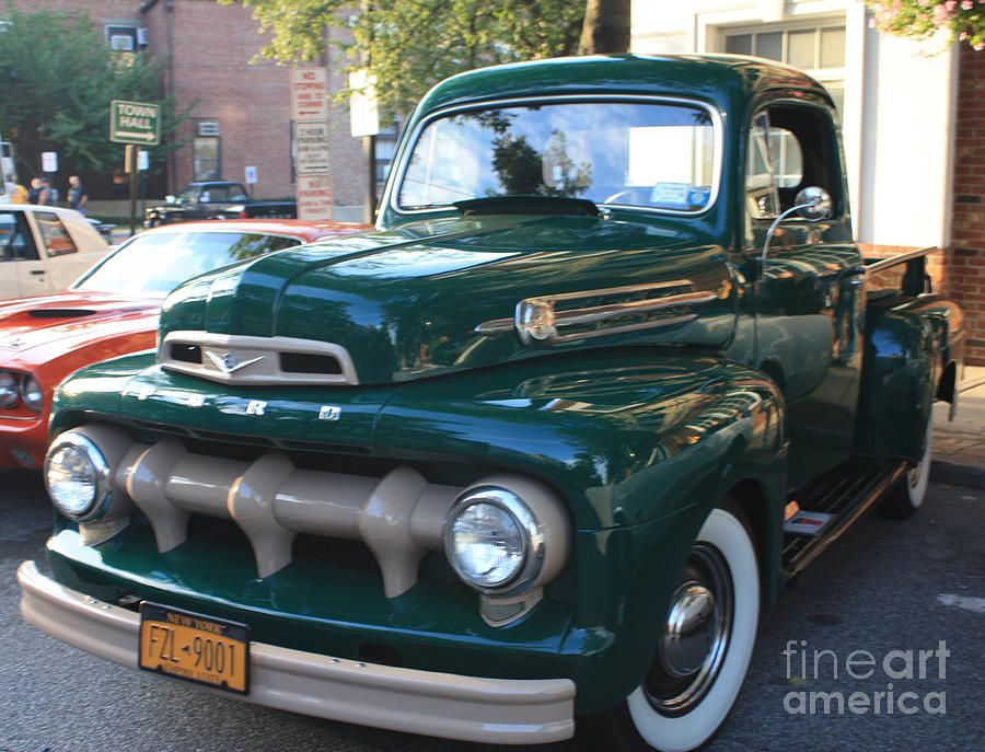 1952 Ford Pick Up Truck Front And Side View By John Telfer