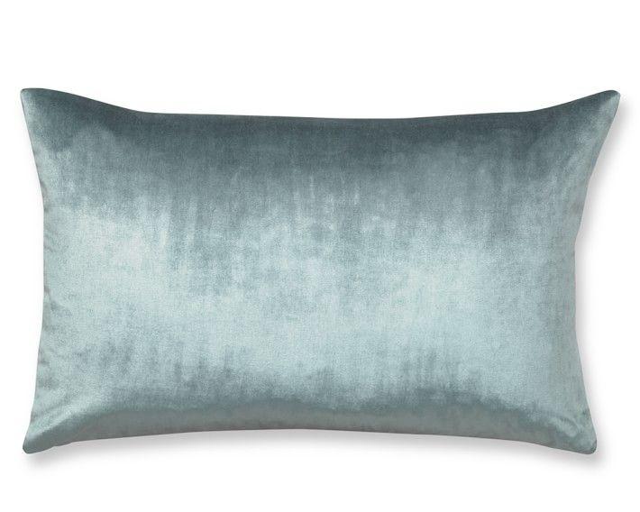 Velvet Lumbar Pillow Cover, Wedgwood