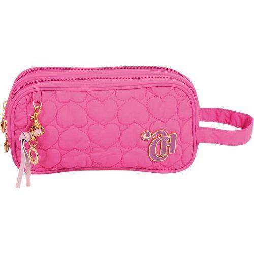 5895c04b0 estojo capricho love pink 2 ziper original pronta entrega ...