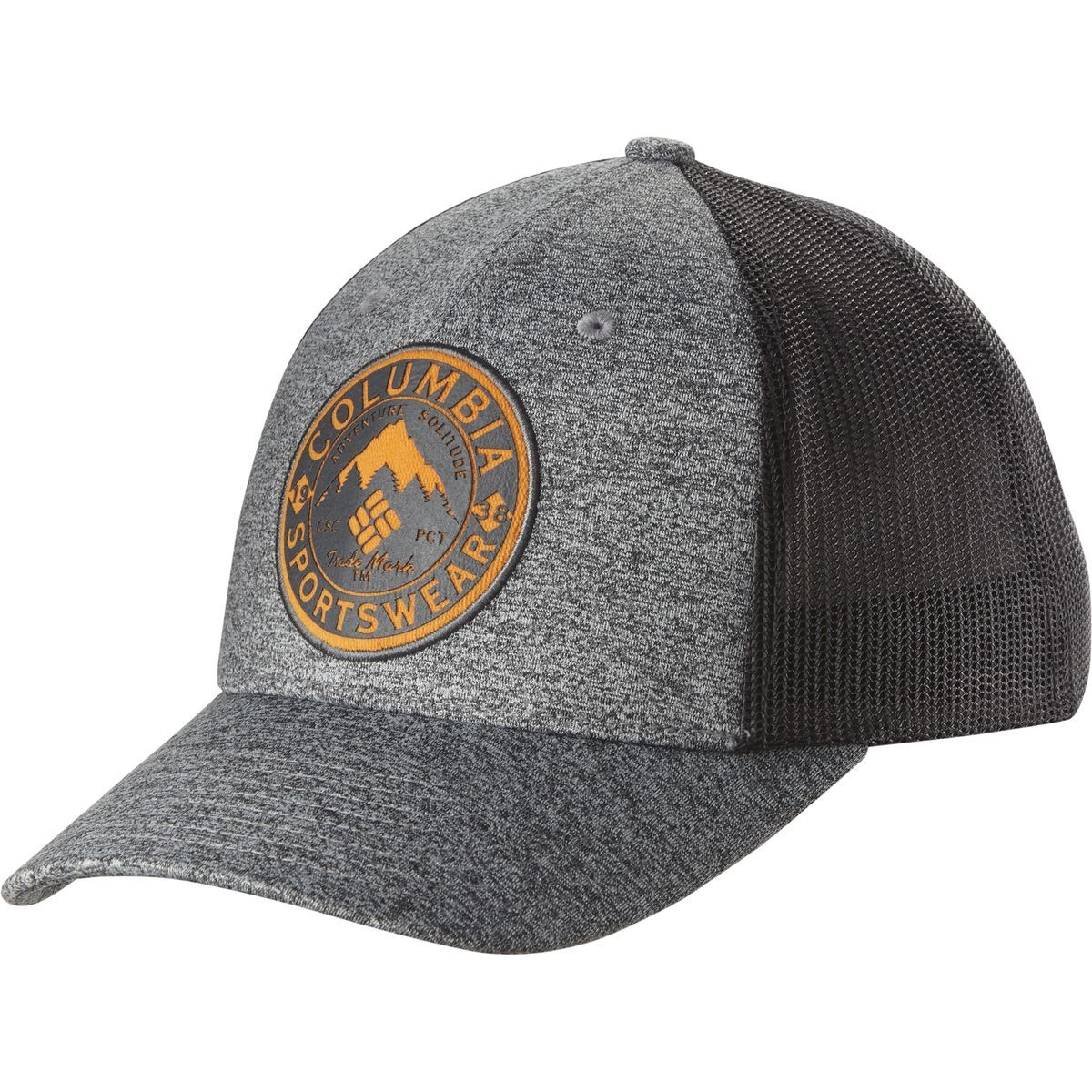 9c51451b36e Columbia Mesh Trucker Hat Grey Ash Heather Felt Patch