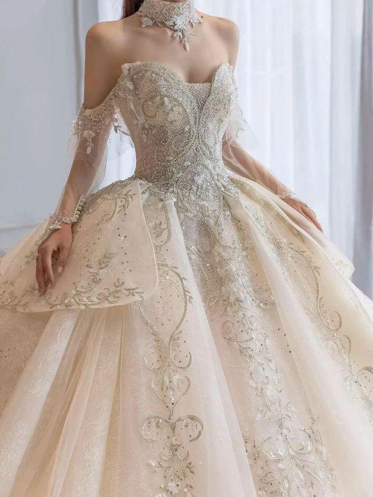 Pin By Ainin Nikmah On My History Princess Ball Gowns Short Sleeve Wedding Dress Ball Gown Wedding Dress