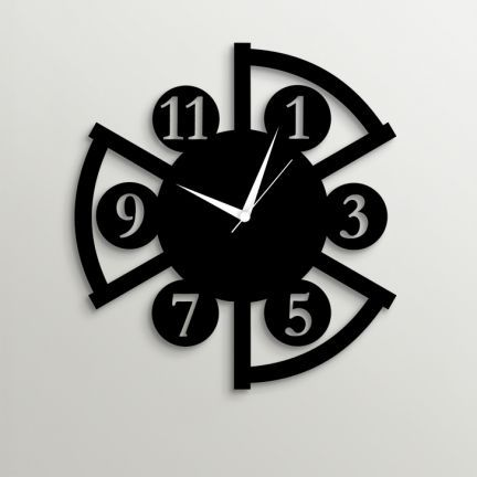 Timezone Classy Wall Clock Black Add Oodles Of Style To Your Home With An Exciting Range Of Designer Furniture With Images Wall Clock Design Wall Clock Wall Clock Wooden