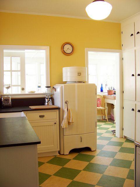 marmoleum kitchen floor designs - Google Search   Craftsman Kitchens ...