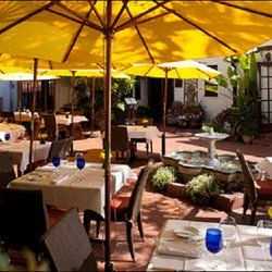 Mille Fleurs Restaurant Patio Seating Rancho Santa Fe Ca United States