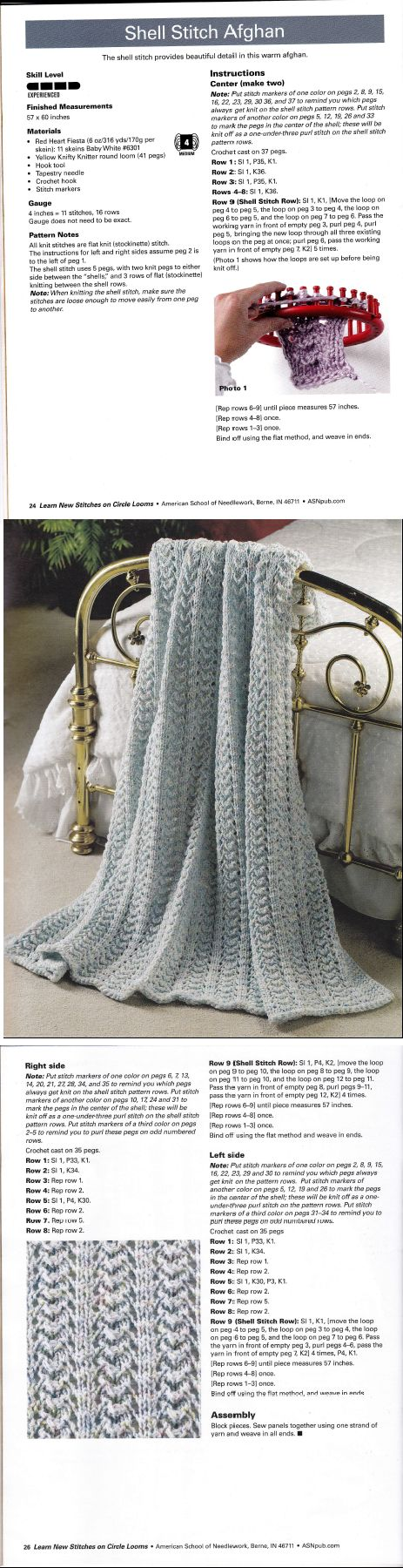 Learn New Stitches on Circle Looms by Anne Bipes: Shell Stitch ...