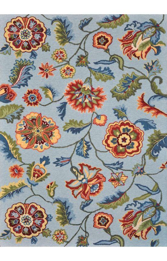 Loloi Juliana JL11 Blue Rug (Kitchen?) Floral rug, Blue