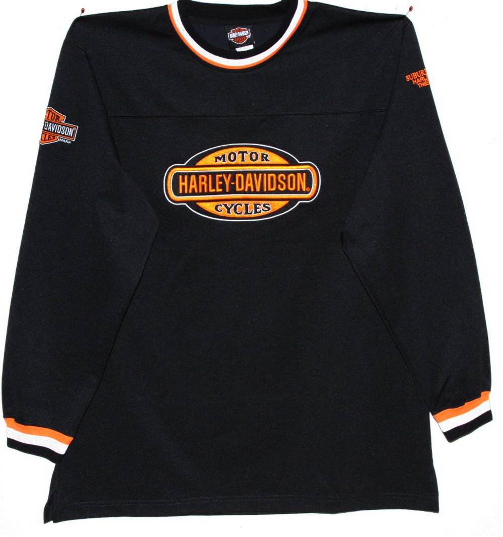 Men's Harley Davidson Black Crew Shirt Long Sleeve Large
