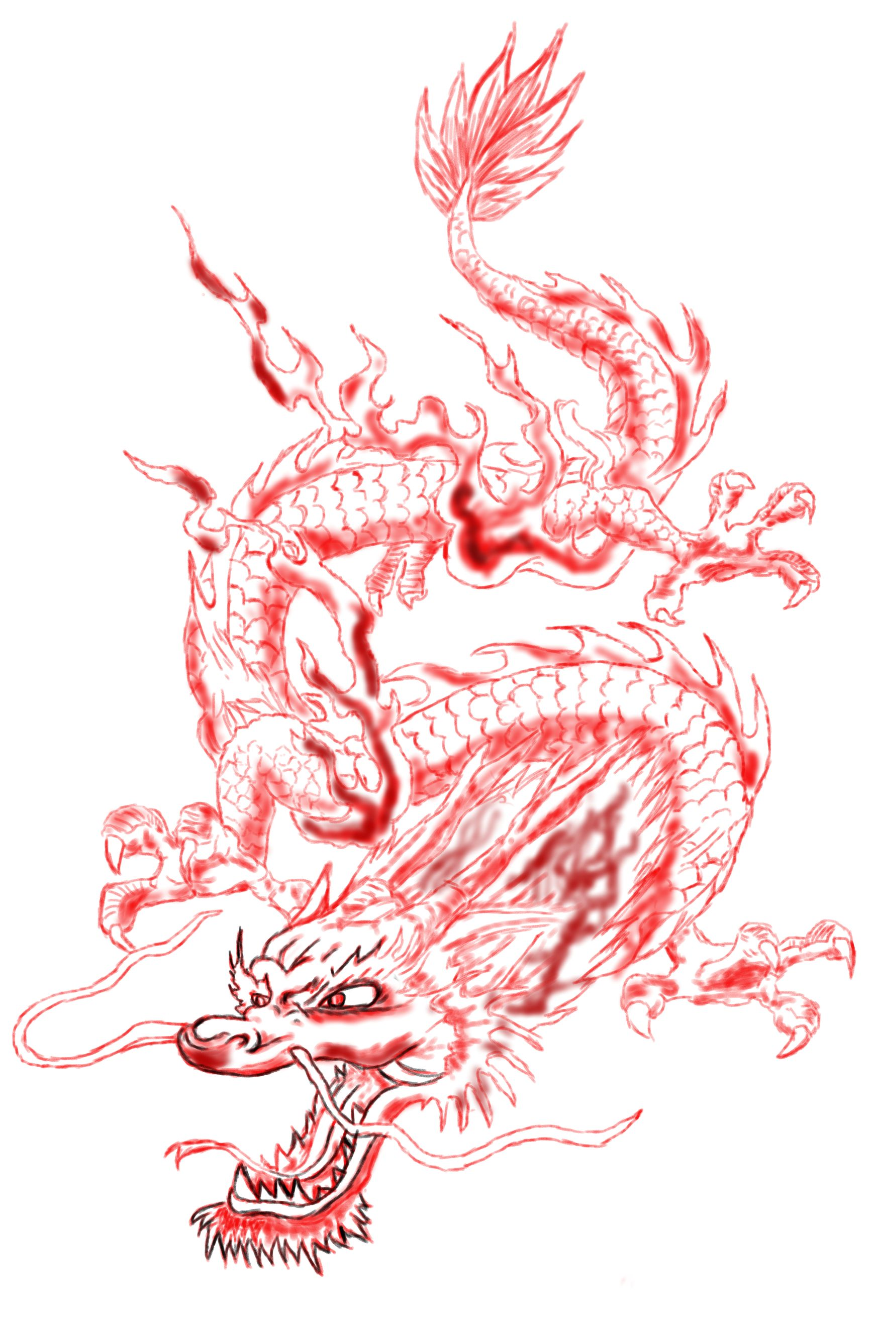 Chinese Dragon Line Art Dragon Art Sketches Chinese Dragon Drawing Asian Dragon Tattoo Dragon Sketch
