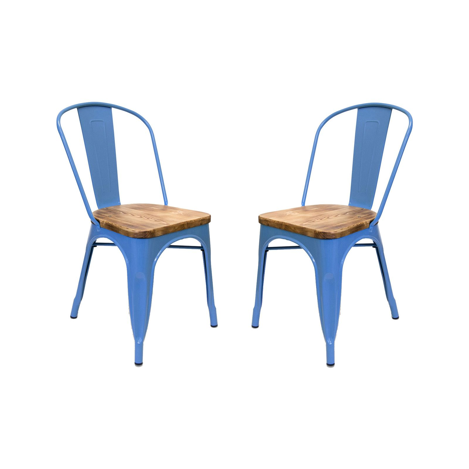 Get Amped Up Over This Shockingly Blue Bistro Chair. With A Painted Metal  Base And