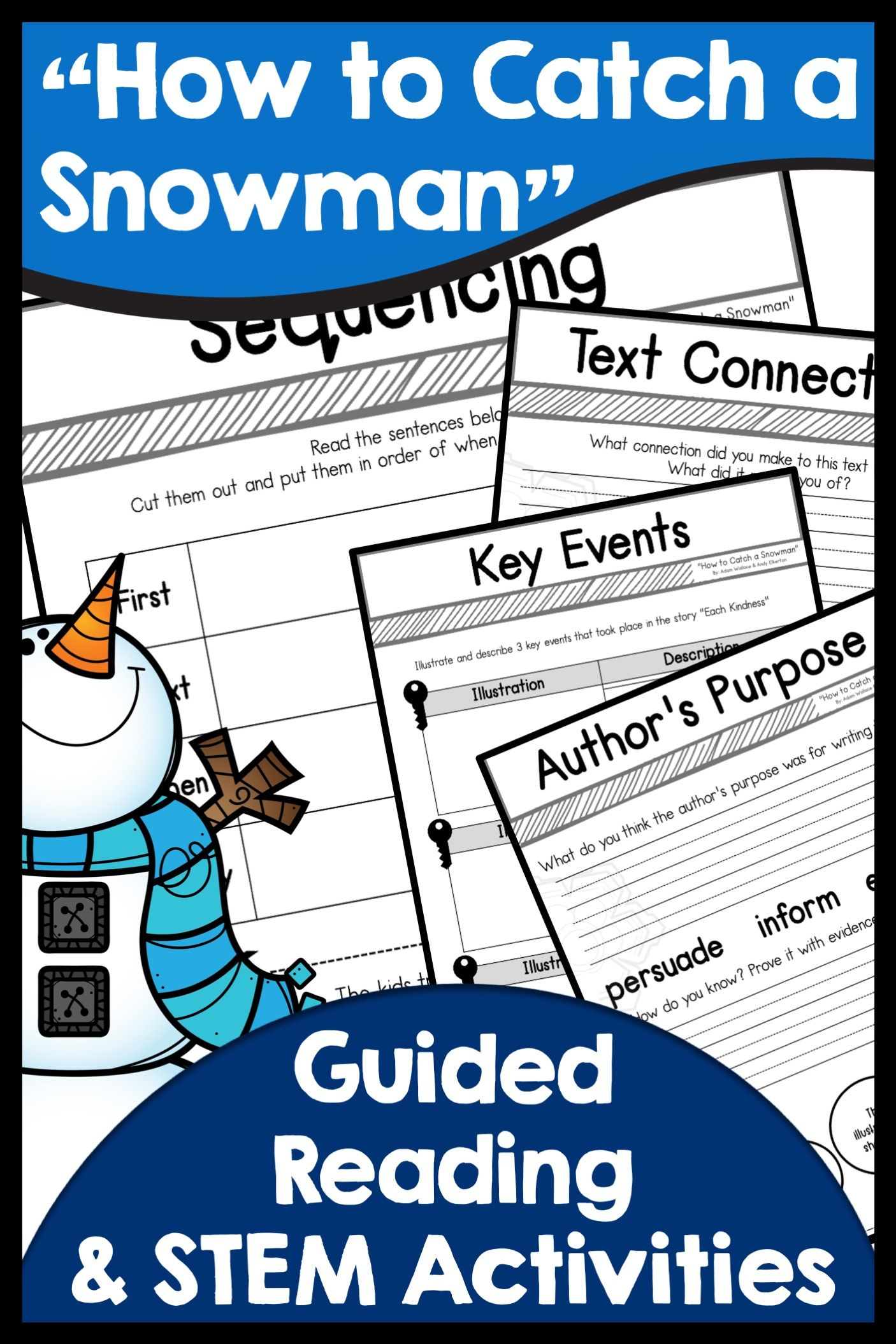 How To Catch A Snowman Stem And Guided Reading Guided Reading Activities Book Companion Guided Reading Guided reading activities for winter