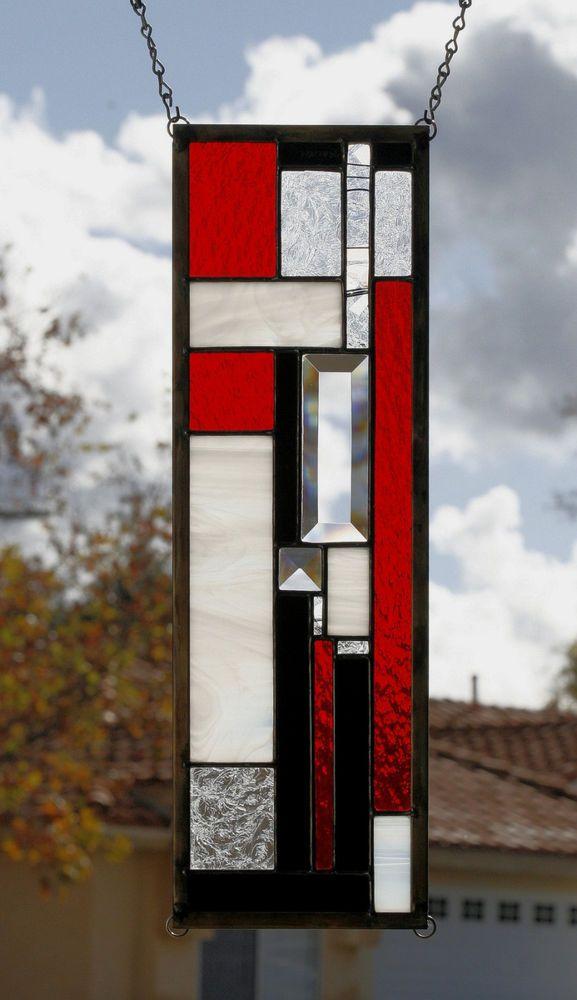 JAZZ II-Art Deco Style Glass Window Panel