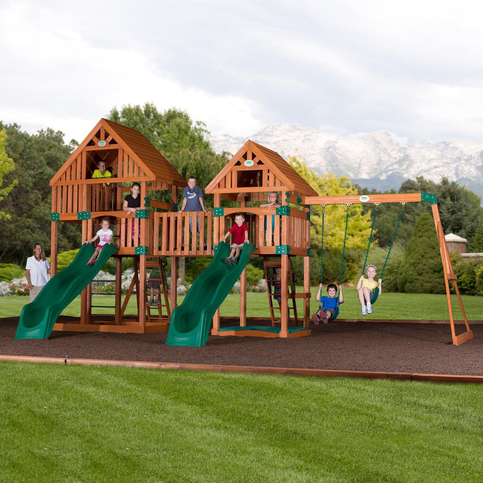 Backyard Odyssey Vista All Cedar Swingset Products In 2019 Cedar