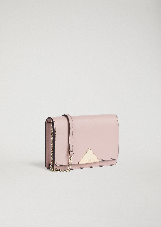 c81c2140f32f Emporio Armani Smooth Leather Mini Crossbody Bag - Coral