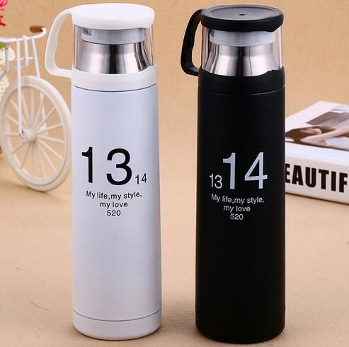 1314 Number 500ml Stainless Steel Auto Cup Small Thermos Vacuum Flask Bottletravel Coffee Mug Mini Hot