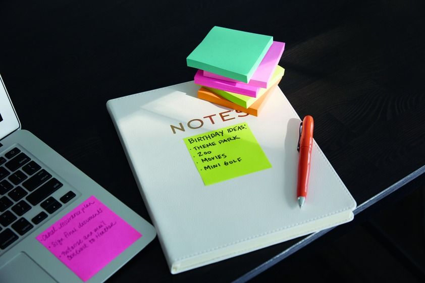 The bright notes of the Post-it Miami Color Collection keeps tasks noticeable and at hand.