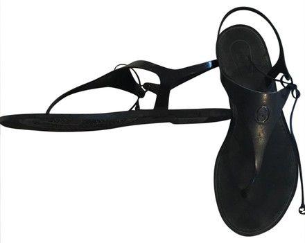 623ddb312656 Katina Bio-plastic Rubber Thong Black Sandals. Black SandalsGucci