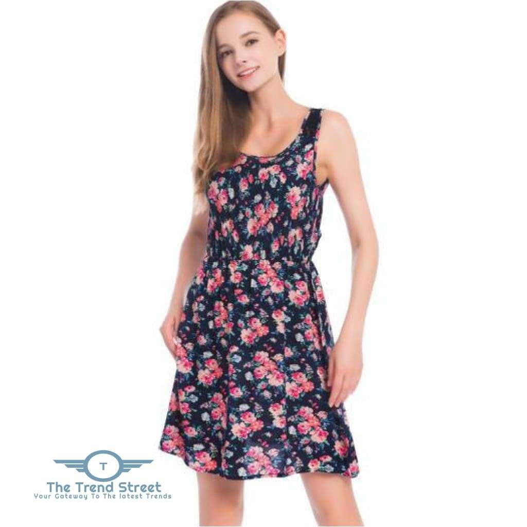 Photo of Sleeveless Lace Summer Casual Dress (Floral)
