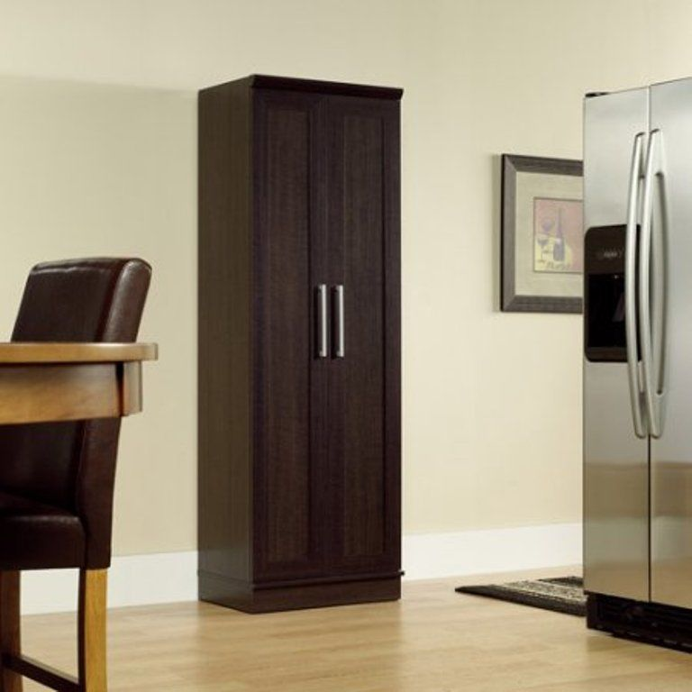 Kitchen Storage Cabinet Tall Pantry Organizer With Doors Adjustable