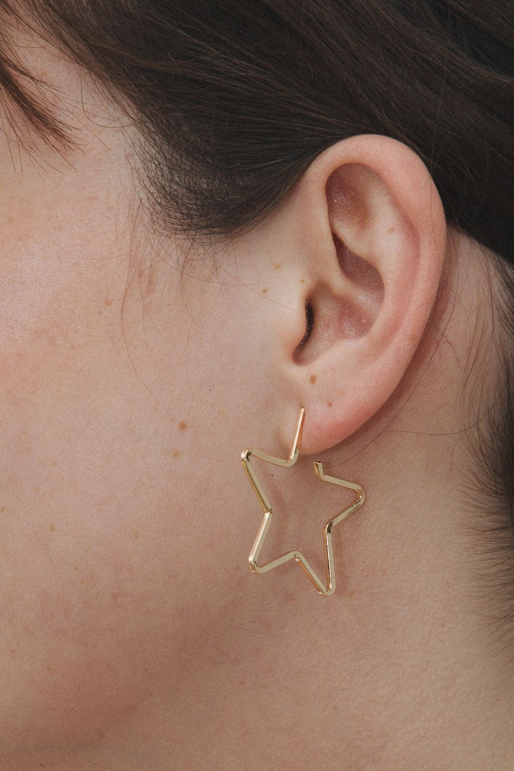 e6e7feab0 Gold Star Earring in 2019 | FASHION | Jewelry, Star earrings ...