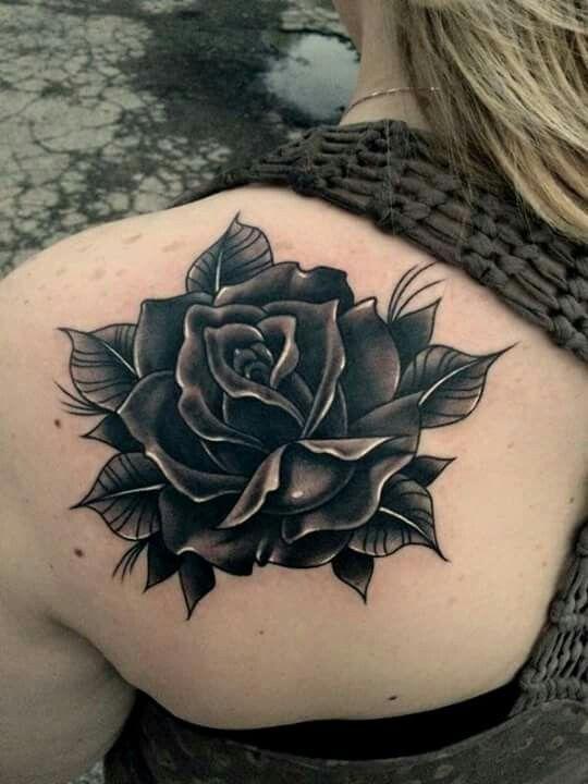 By Scott Marshall | Tatuagens de rosas negras, Tatuagem ...