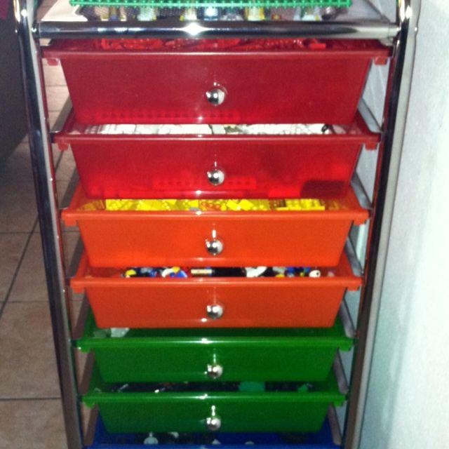 Lego organization. Bought a scrapbook organization/storage unit at ...