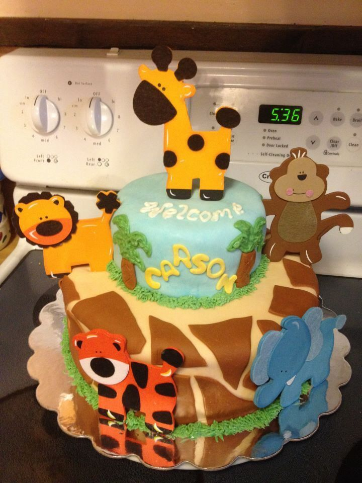 Safari Baby Shower Cake So Cute