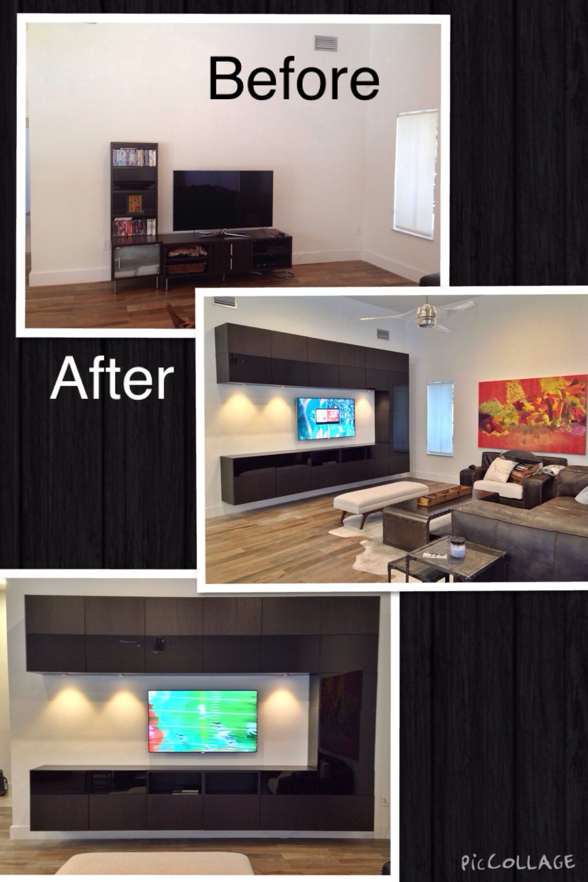 Ikea Besta TV entertainment center/wall unit | Recent Projects ...