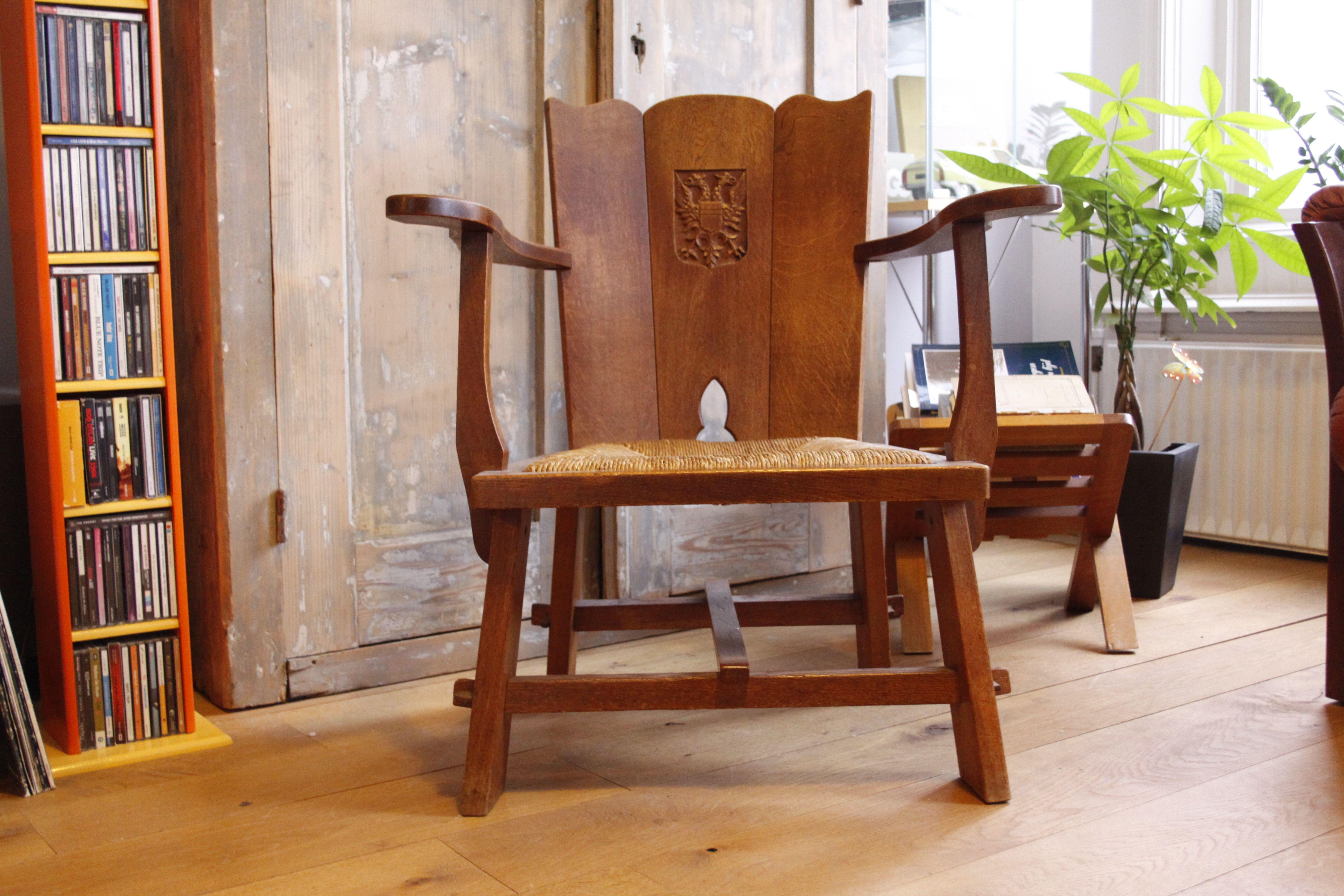 Antieke Fauteuils Te Koop.Te Koop Twee Antieke Raadhuisstoelen Of Fauteuils Uit De
