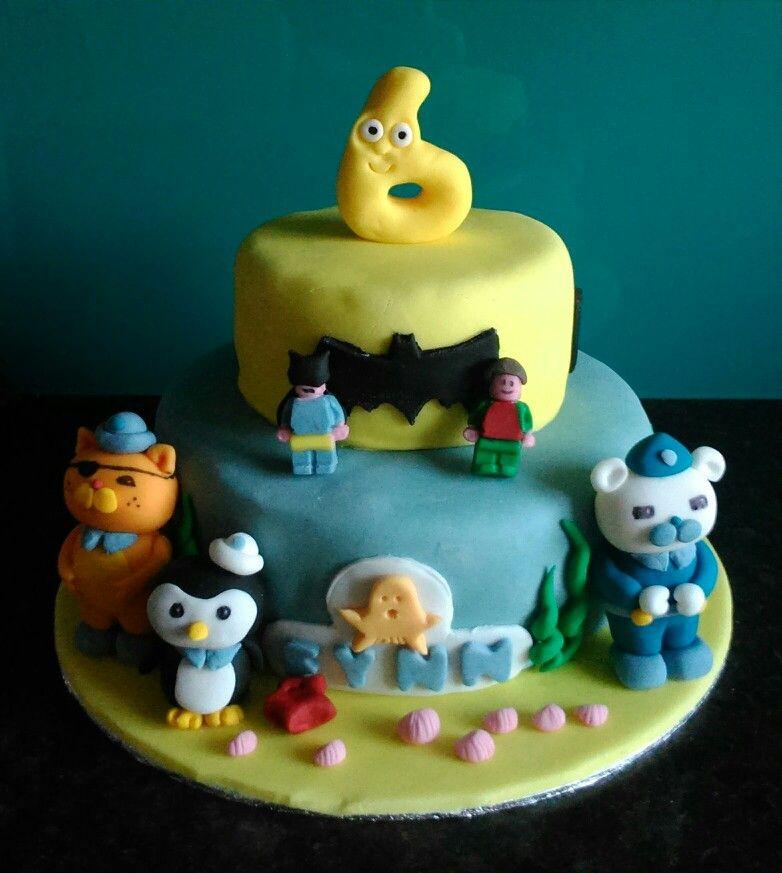 Octonauts Batman lego numberjacks tiered cake – Numberjacks Birthday Card