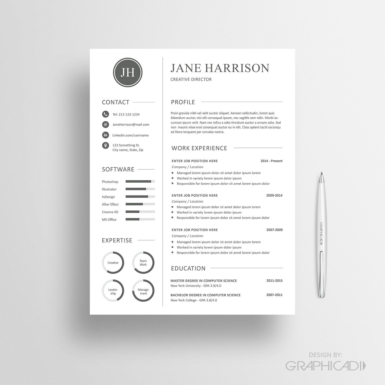 CV Template And Cover Letter For MS Word