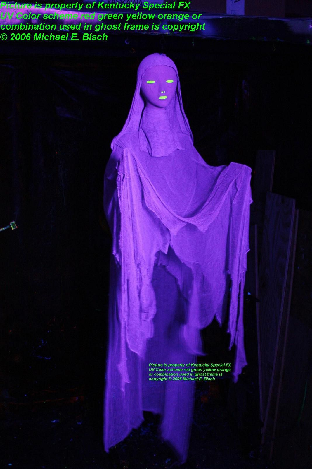 Purple lady halloween ghost prop in the halloween ghost for Animated floating ghost decoration