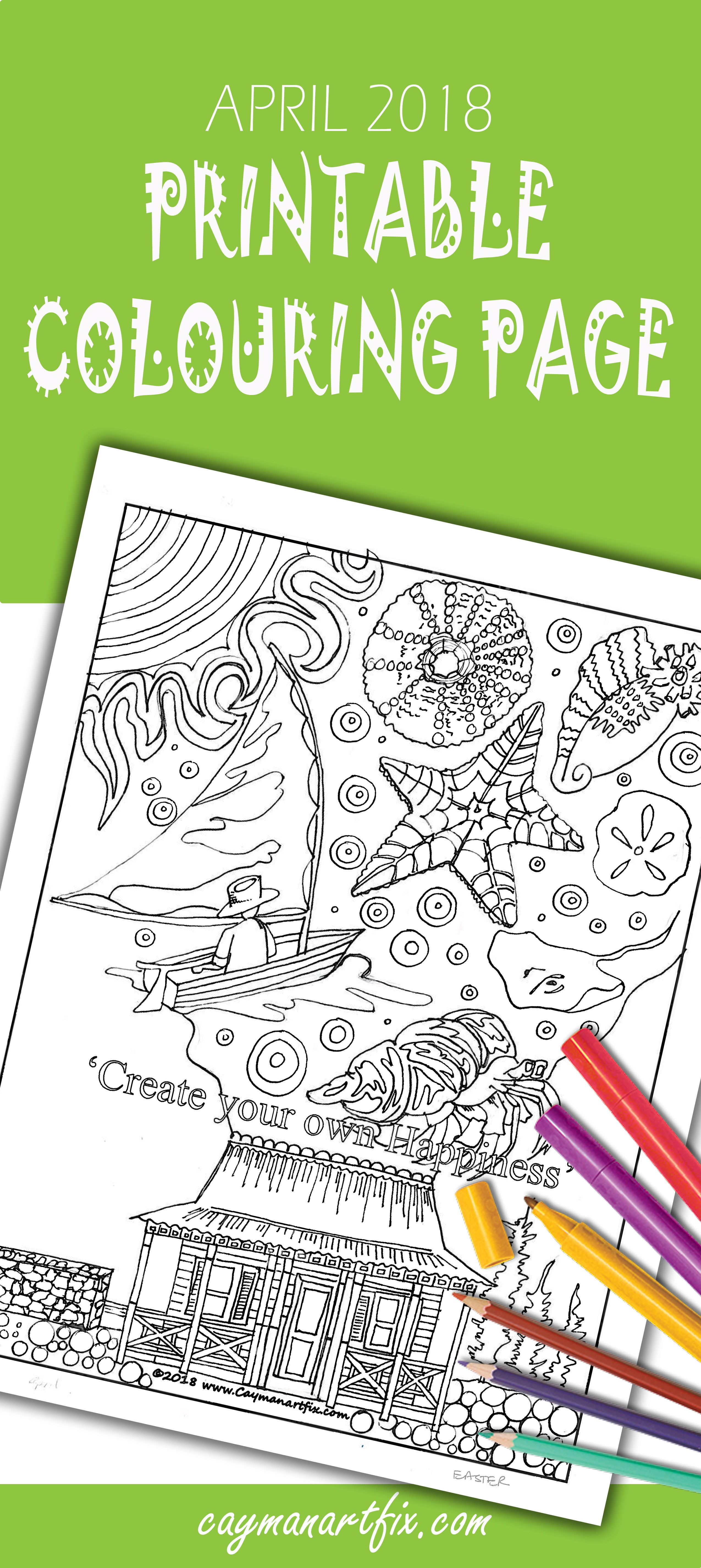 This April Colouring Page Has So Much For You To Enjoy From The Catboats