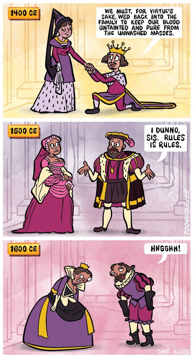 Royalty. History puns, Funny memes, Funny