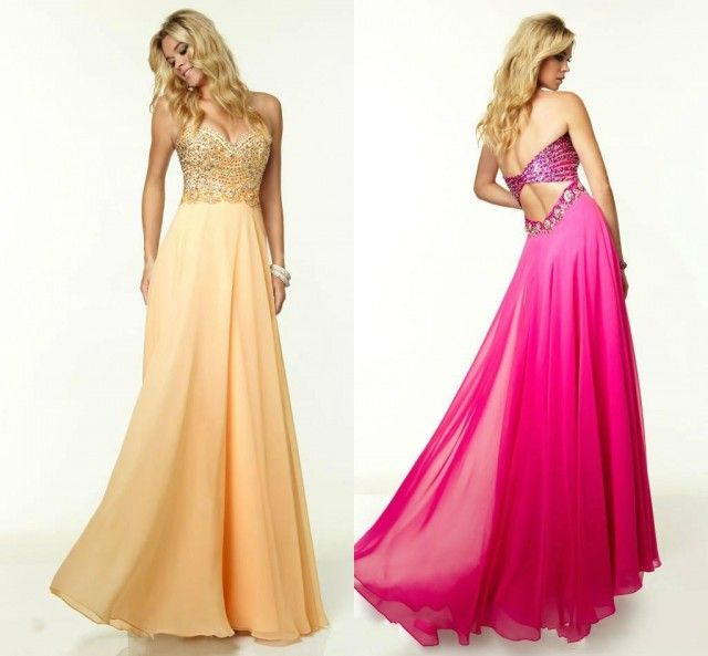 2015 Spring Color Evening Dresses A Line Sweetheart Crystal with Chiffon Backless Long Party Sleeveless Sexy Formal Prom Gowns Floor Length Online with $123.72/Piece on Hjklp88's Store