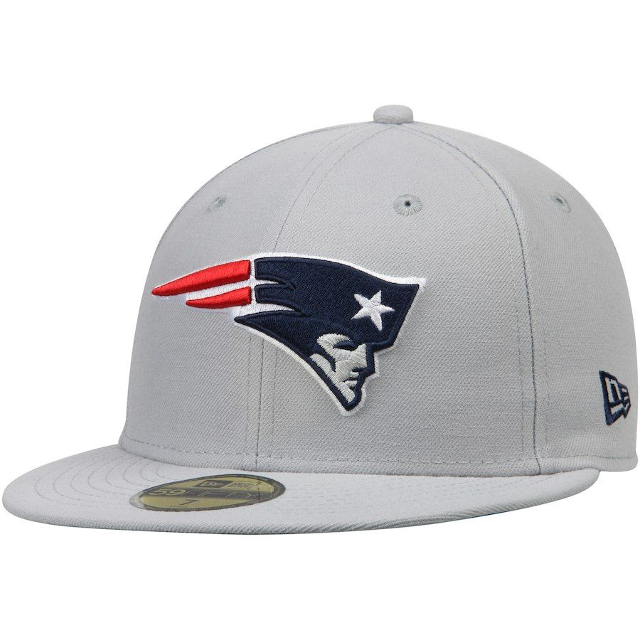 Men s New England Patriots New Era Gray Omaha 59FIFTY Fitted Hat ... b4b935441