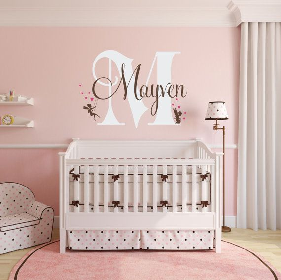 Fairy Name Wall Decal Personalized