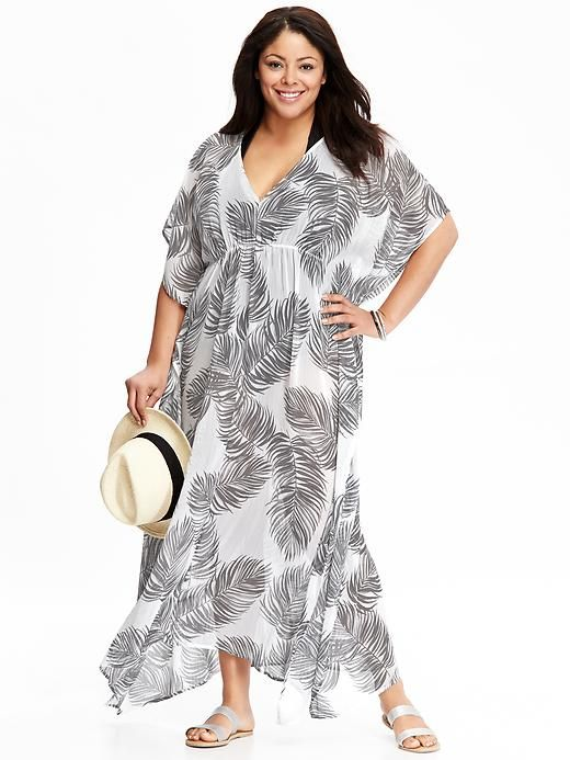 3494e77f932e7 Women s Plus Chiffon Maxi Swim Cover-Ups