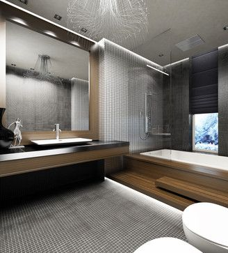 Modern Bathroom Gray And Brown Bathrooms Design, Pictures, Remodel, Decor  And Ideas   Page 45
