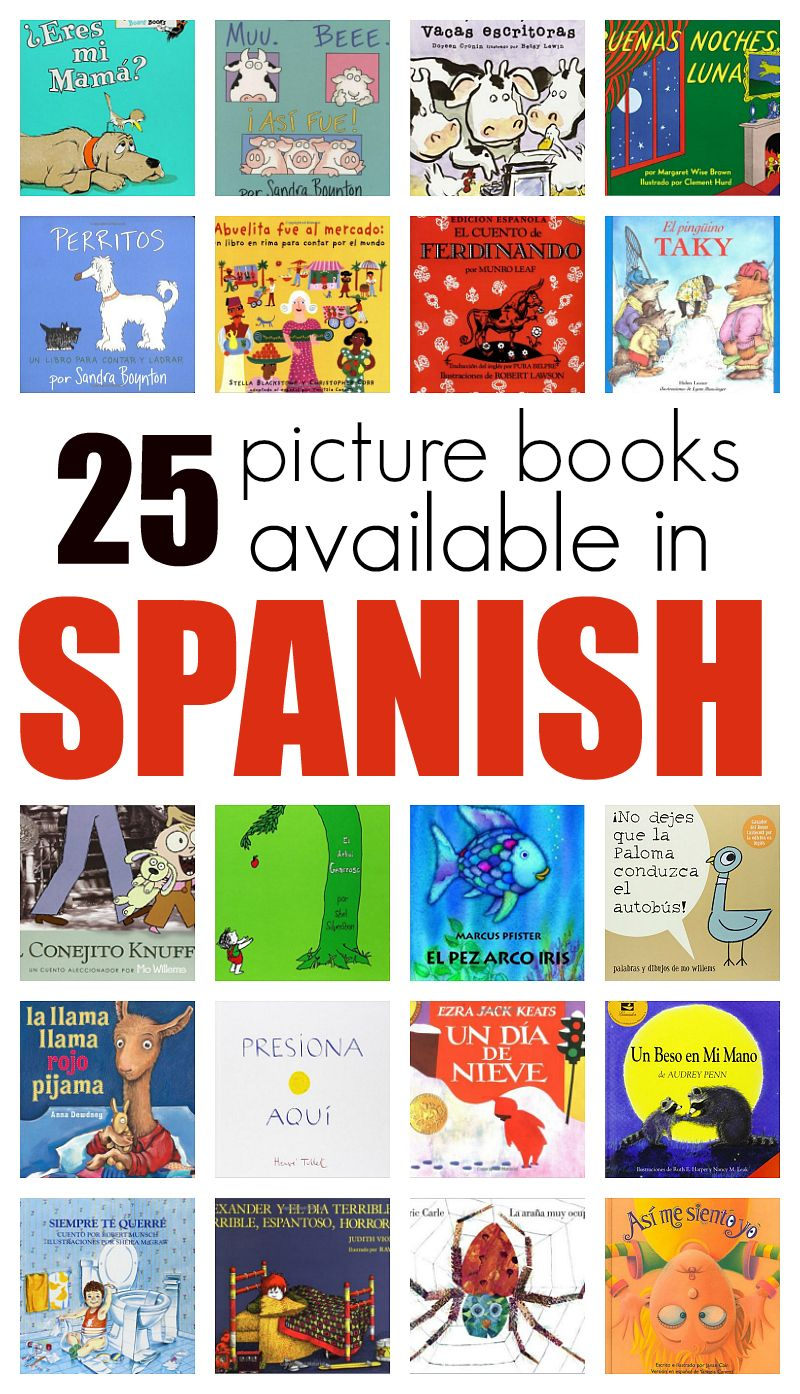 25 great picture books in spanish kindergarten books