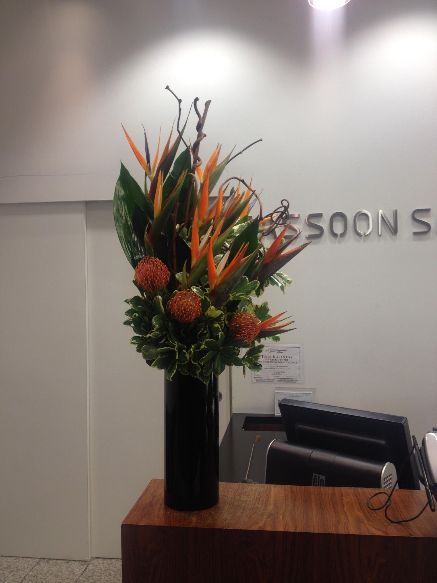 Each Week Our Designers Produce New Color Display With Carefully Arranged Fresh Flowers To