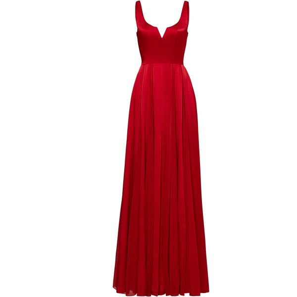 Halston Heritage Red Meaghan Gown (250 BRL) ❤ liked on Polyvore ...
