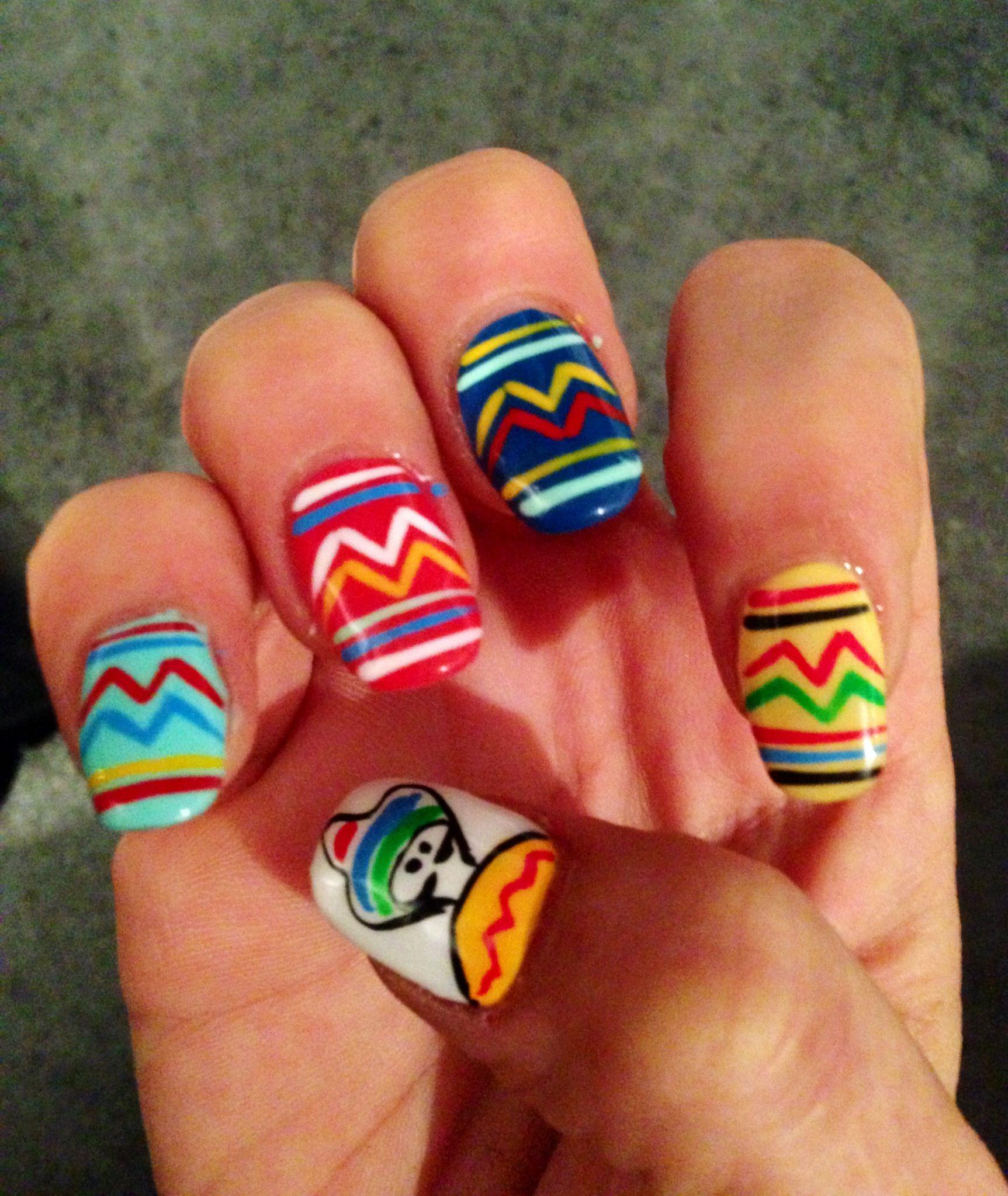 Mexican nail art | Nail design | Pinterest | Divertido, Cerámica y ...