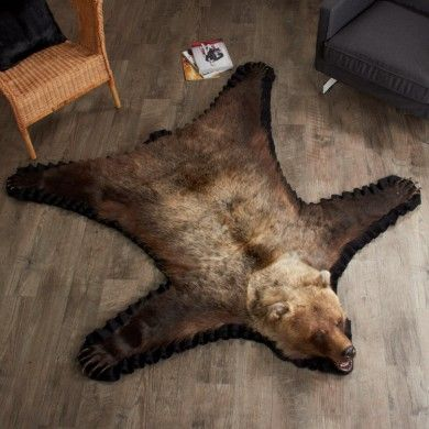 5 Foot 4 Inch Grizzly Bear Rug Leh90110601 Osos Relojes Hombre Hombres