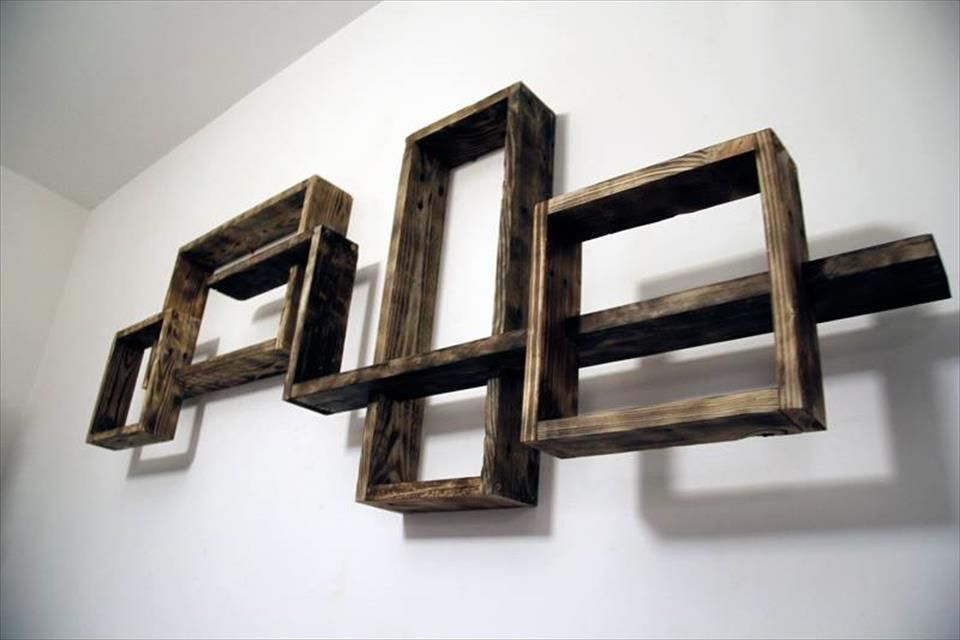 Astounding Wall Units Made From Pallets Pictures - Simple Design ...
