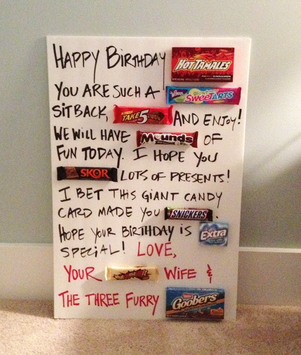 Giant Candy Birthday Card | Great Ideas | Candy birthday cards