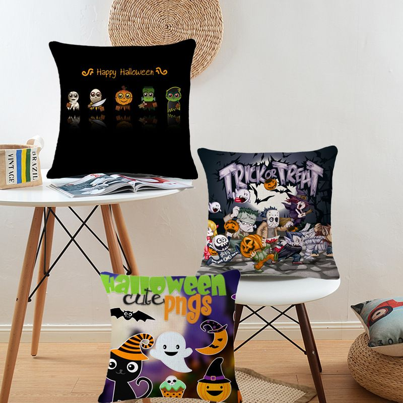 Halloween Festival Cushion Covers Zombie Party Pillow Case Pumpkin - decorate your car for halloween