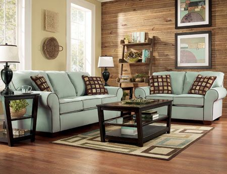 Living Room With Seafoam Green Couches Too Serene Brown Living
