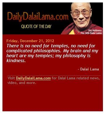 The Dalai quote on Lama kindness