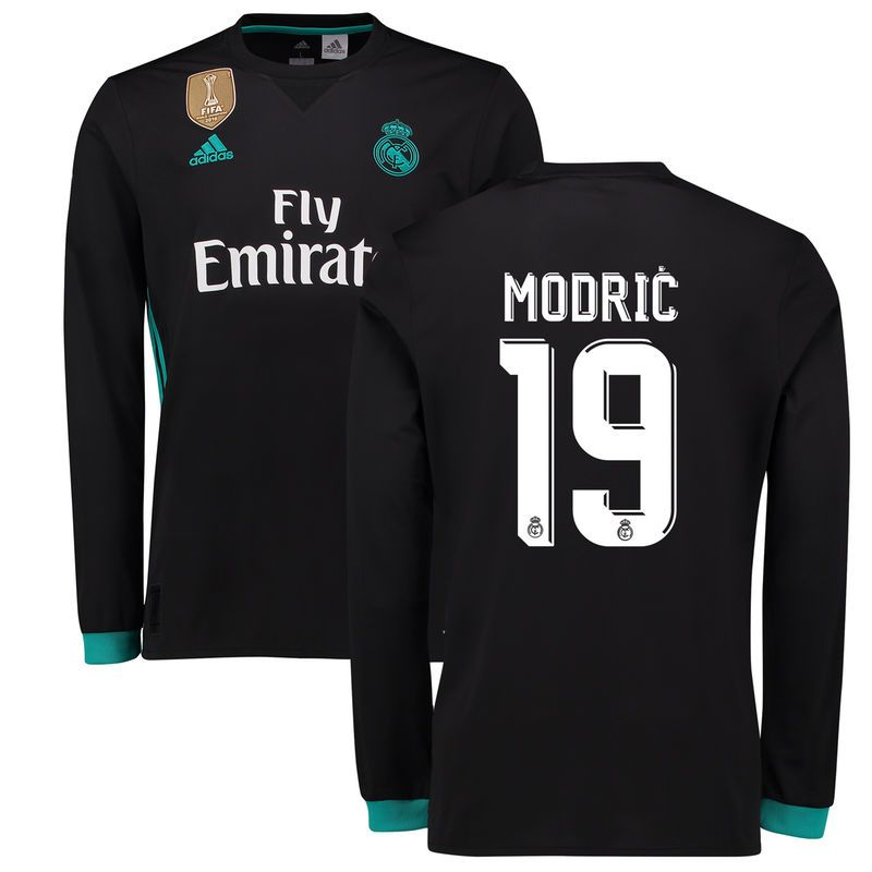 Modric Real Madrid adidas 2017 18 Away Replica Patch Long Sleeve ... 85830fa535973