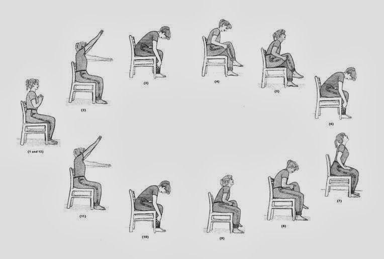 The Sun Salutation Seated Version Chair Yoga Chair Pose Yoga Yoga For Seniors